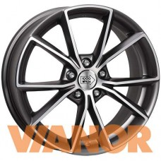 1000 Miglia MM035 8x18/5x112 D66.6 ЕТ39 Matt Anthracite Polished Lip