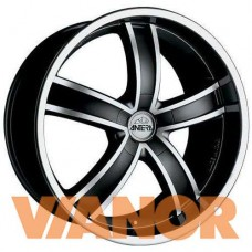 Antera 381 9.5x20/5x114.3 D75.1 ЕТ40 Diamond Black Front and Lip Polished