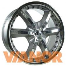 Antera 389 10x22/5x112 D66.6 ЕТ52 Silver Matt Lip Polished