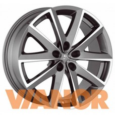 Fondmetal 7600 7.5x17/5x108 D67.1 ЕТ45 Titanium Polished
