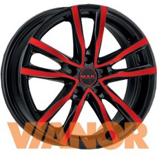 MAK Milano 6.5x16/5x108 D72 ЕТ45 Black and Red