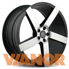 Vissol V-080R 8.5x19/5x112 D66.6 ЕТ45 Black With Machined Face