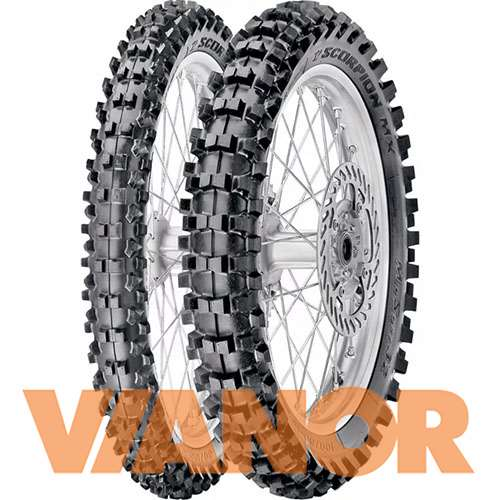 Мотошины Pirelli Scorpion MX Mid Soft 32 110/90 R19 62M Задняя (Rear) в Уфе